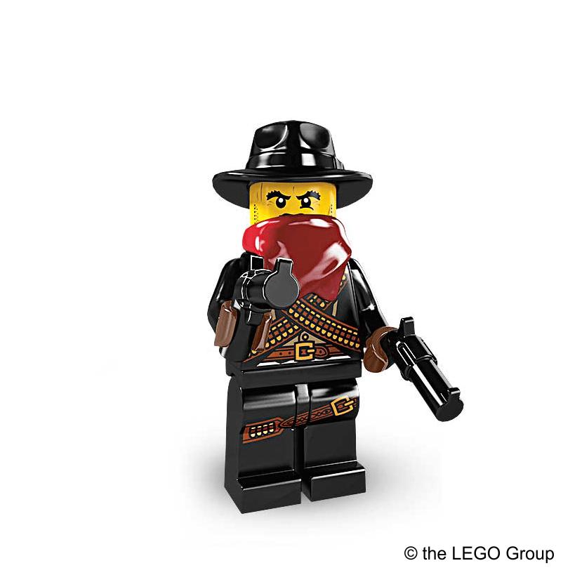 Lego-Minifigur Bandit Serie 6