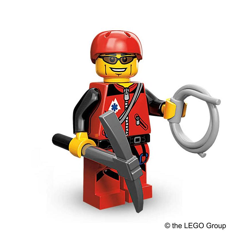 Lego-Minifigu Bergsteiger Serrie 11