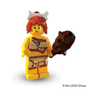 Lego Minifigur Steinzeitfrau Serie 5