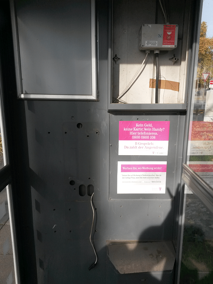 Telefonzelle in Darmstadt