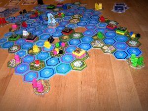 Das Orakel von Delphi - Szene auf Spielplan