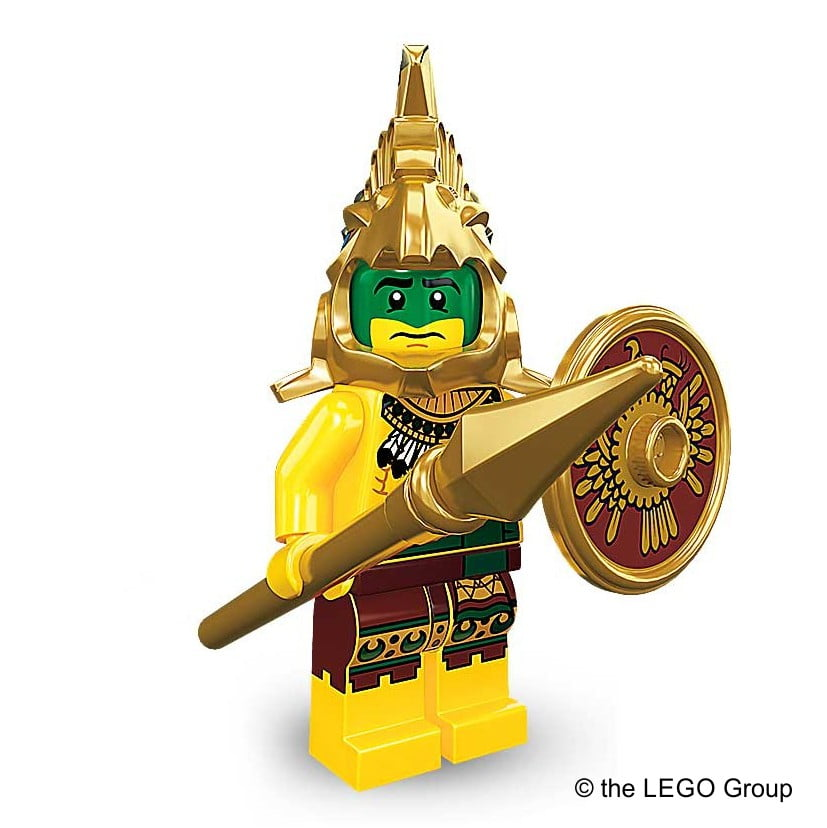 Lego-Minifigur Aztekenkrieger Serie 7