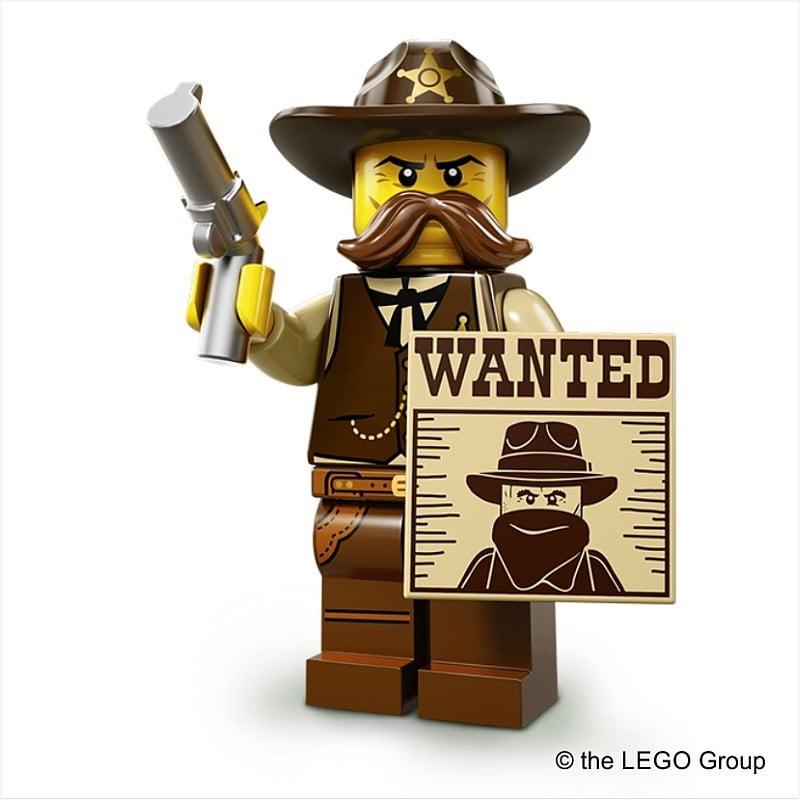 Lego-Minifigur Sheriff Serie 13