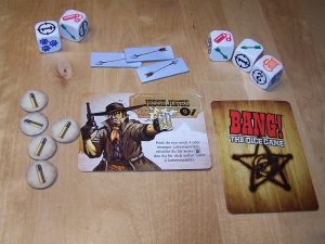 Bang The Dice Game - Spieler-Auslage