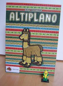Altiplano mit Lego Minifigur als Startspieler