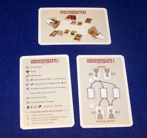 Bang - The Duel - Übersichtskarten