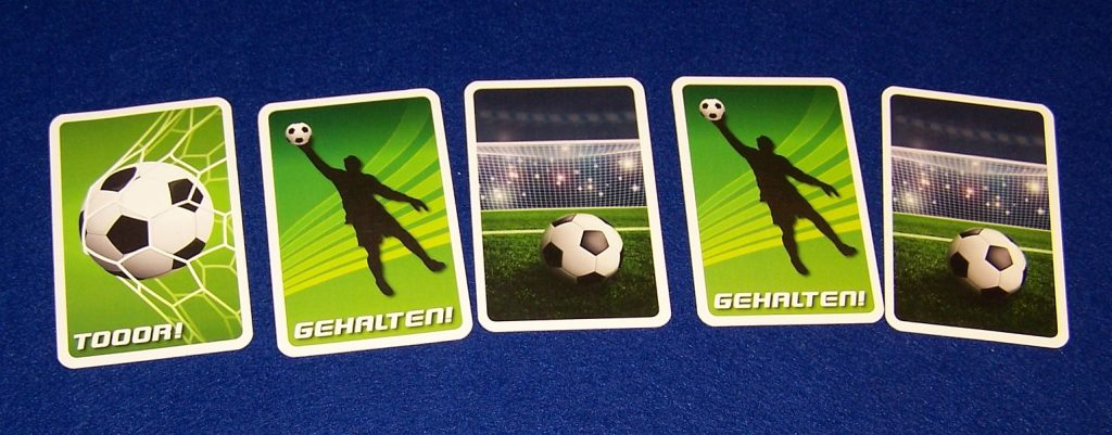 Fussball-Duell - Torschuss-Karten