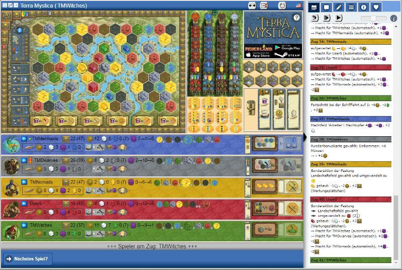 Terra Mystica - Yucata Screenshot