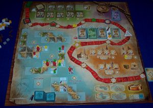 Race to the New Found Land - Spielplan