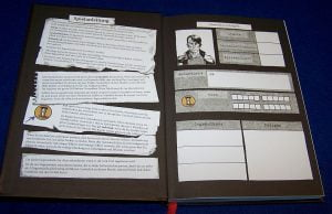 Spiele Comic Noir - Gefangen - Charakterbogen