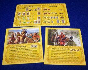Catan - Aufstieg der Inka - Übersicht und Vorteilskarten