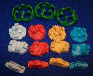Catan - Aufstieg der Inka - Plastikteile