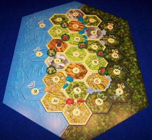 Catan - Aufstieg der Inka - Spielplan