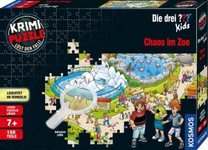 Krimi Puzzle Chaos im Zoo - Box