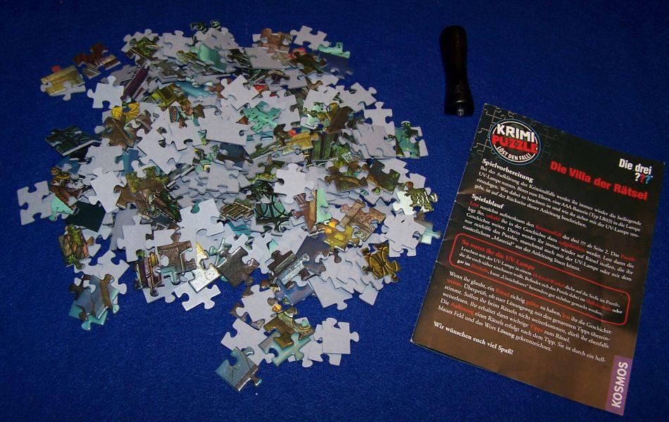 Krimi Puzzle Die Villa der Rätsel - Inhalt