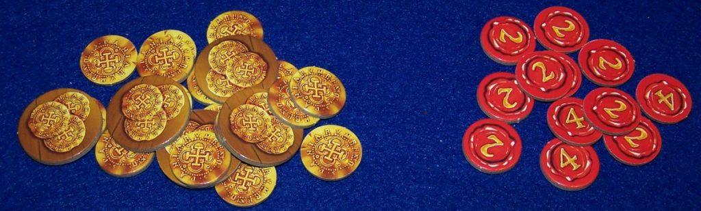 Münzen und Punkte