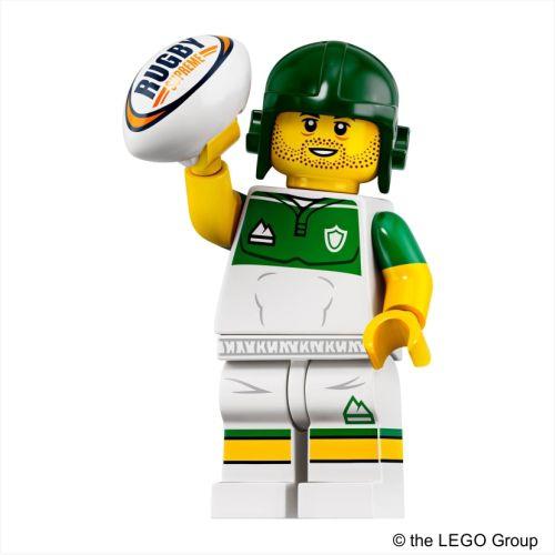 Lego Minifigur - Rugby Spieler - Serie 19