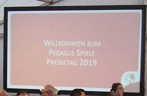 Pegasus Presse-Event 2019 – Begrüßung