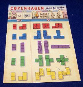Copenhagen Roll-and-Write - Gemeinschaftsbogen