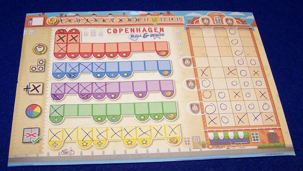 Copenhagen Roll-and-Write - Spielerbogen