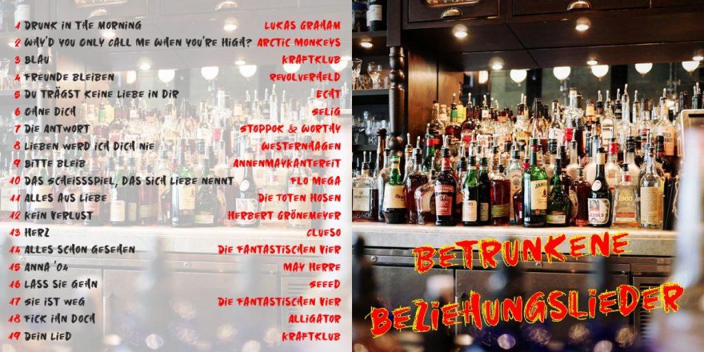 Betrunkene Beziehungslieder - Cover