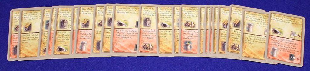 Die Befreiung der Rietburg - Erzählerkarten