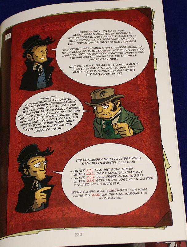 Spiele Comic Krimi - An der Seite von Mycroft - Auflösung