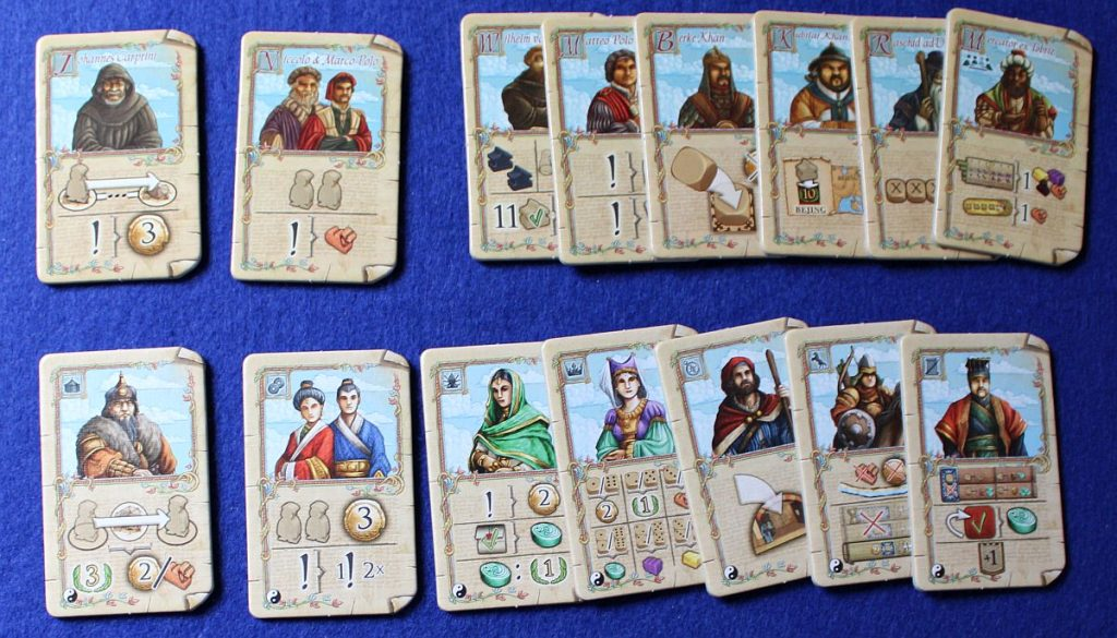 Marco Polo 2 - Vergleich Charaktere