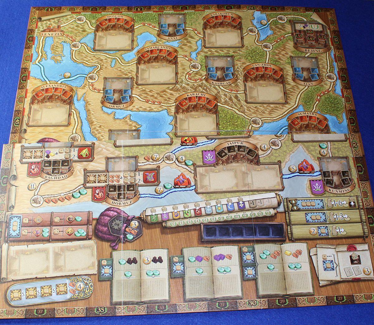 Marco Polo 2 - Vergleich Spielpläne
