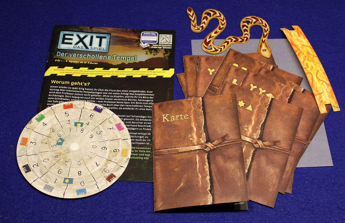 Exit-Spiel-Puzzle - Der verschollene Tempel - Inhalt