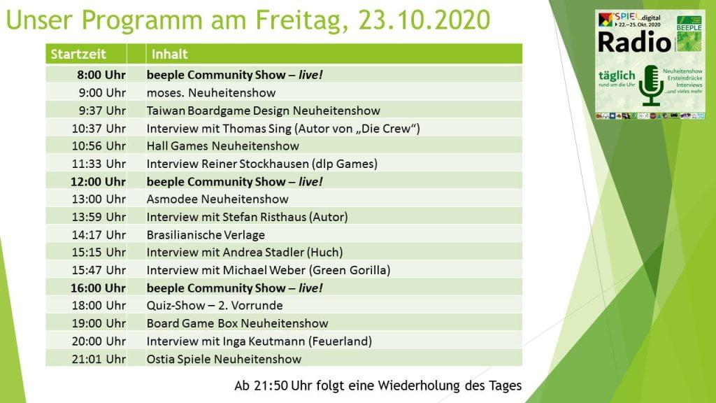 SPIEL.digital Radio Programm-Freitag-23
