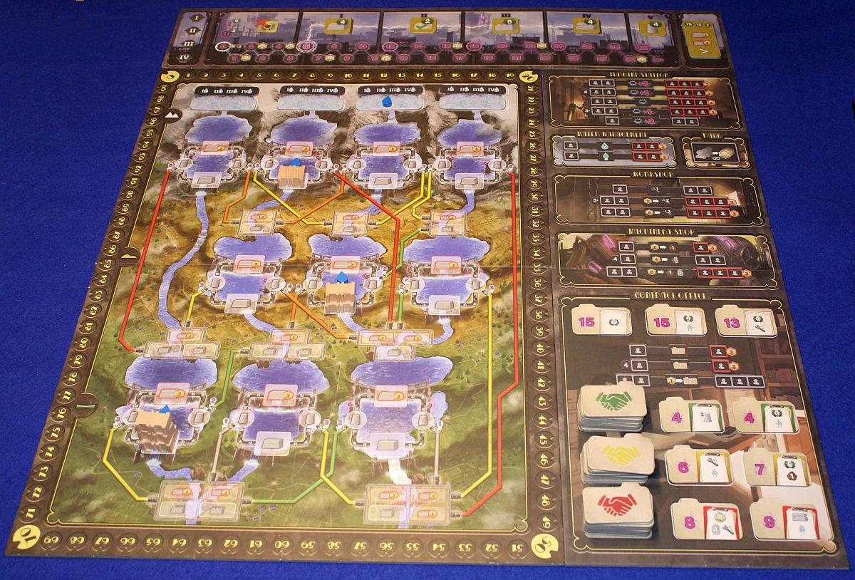 Wasserkraft - Spielplan