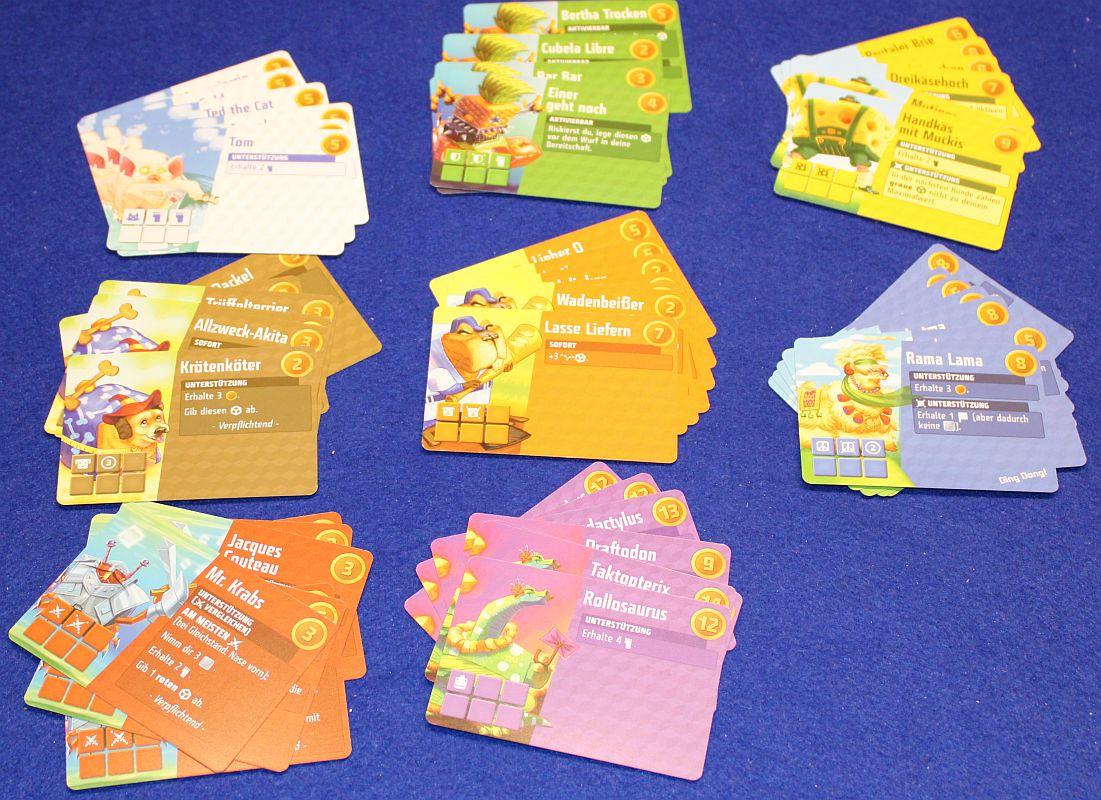 Cubitos - Karten