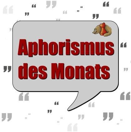 Aphorismus des Monats - Logo